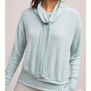 Saturday Sunday Whistler Waffle Knit Pullover top